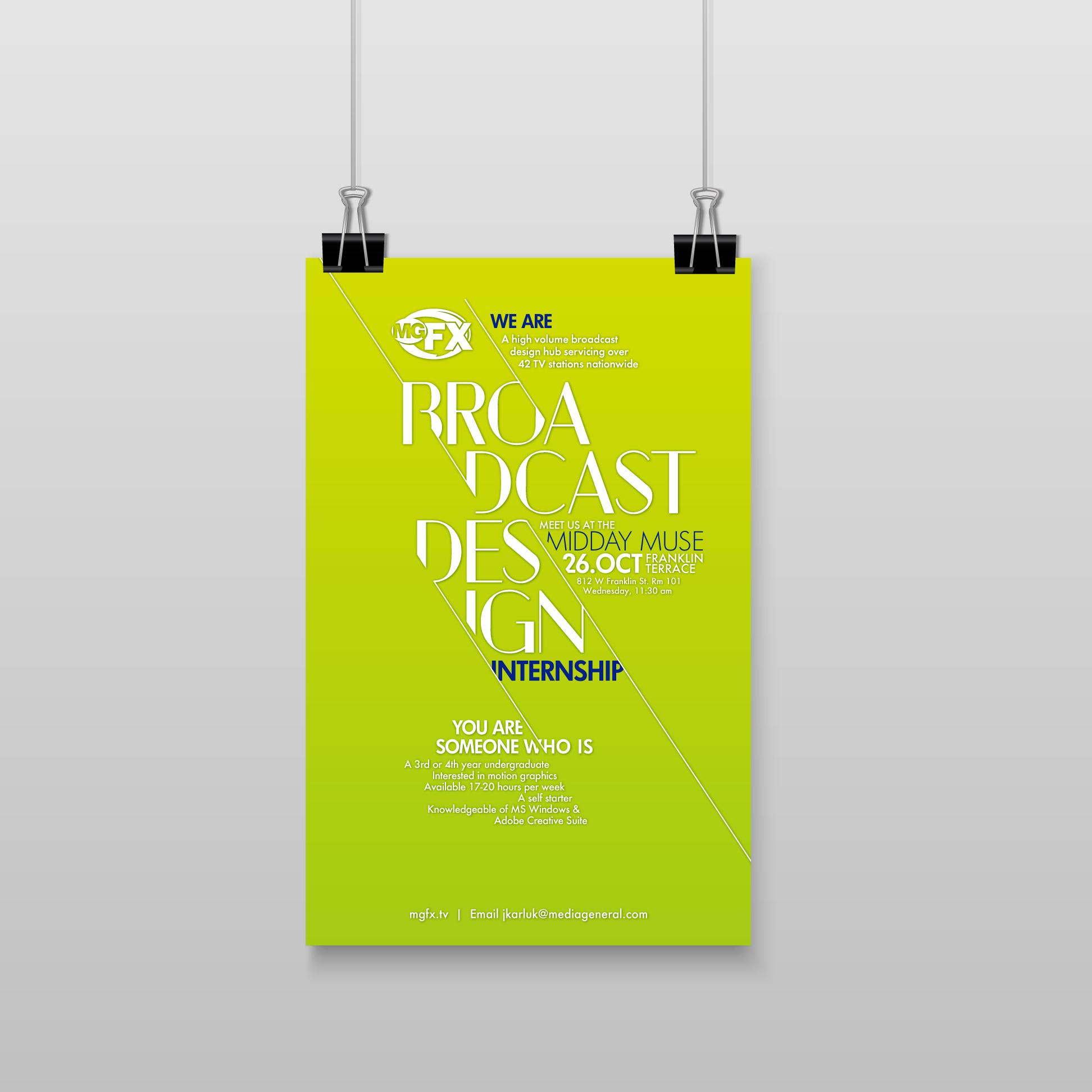 Internship Posters Crystal Cregge Designs